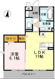 本厚木駅 バス5分「三家入口」徒歩3分2階Fの間取り画像