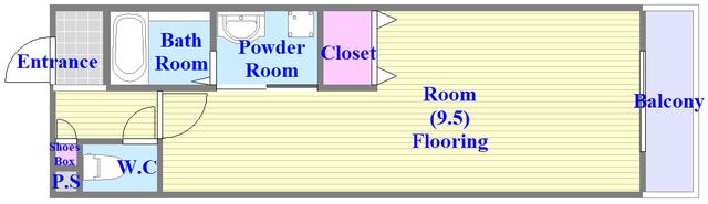 アンリラ シンプルな単身さん向けのお部屋です。