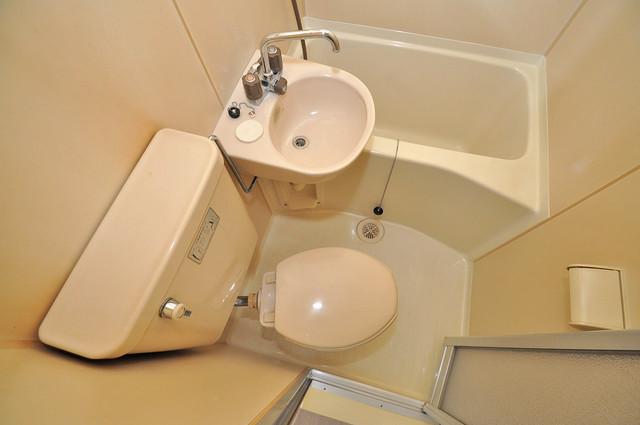 ピースハイツ永和 シャワー1本で水回りが簡単に掃除できますね。