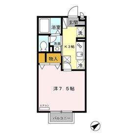 モンターニャ1階Fの間取り画像