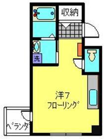 横浜橋TKビル4階Fの間取り画像