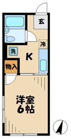 シティハイム松木1階Fの間取り画像