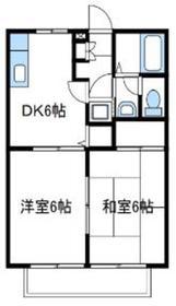 ハイツ湘南2階Fの間取り画像