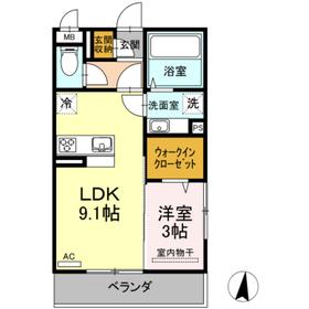 ラビアン ローゼ3階Fの間取り画像