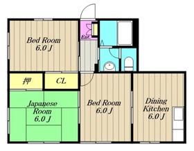 カトルヤマジュ2階Fの間取り画像