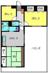 エクレール横浜新子安10階Fの間取り画像
