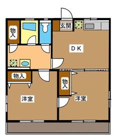 エスポワール(徳丸)2階Fの間取り画像