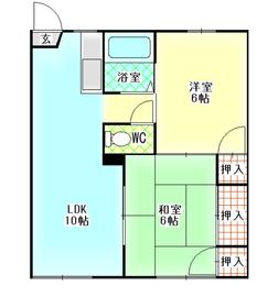 メゾン新大江2階Fの間取り画像