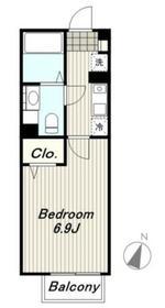 クレールメゾンII1階Fの間取り画像