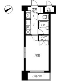スカイコート新宿新都心5階Fの間取り画像