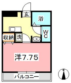 MSDハイツⅡ2階Fの間取り画像