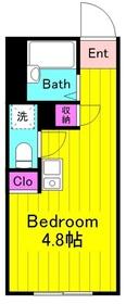 京王稲田堤駅 徒歩9分2階Fの間取り画像