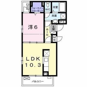 豊田駅 徒歩13分2階Fの間取り画像