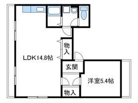 ダイコービル2階Fの間取り画像