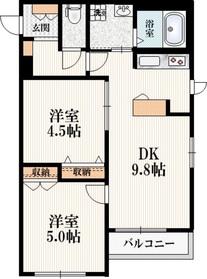 Silk Residence N3階Fの間取り画像