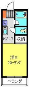 カーレントKアイザワ1階Fの間取り画像