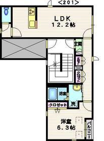 Jアズーリ2階Fの間取り画像