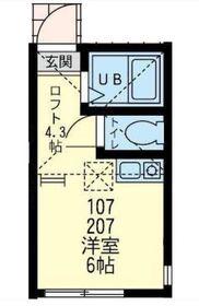 ユナイト小田サン・ジョセップ2階Fの間取り画像