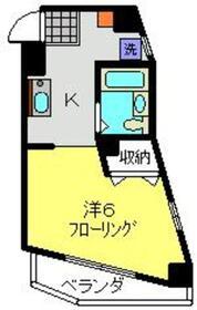 レジデンス大口通2階Fの間取り画像