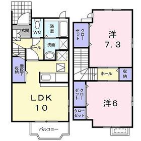 ディアコート鎌倉II1-2階Fの間取り画像