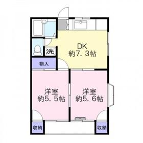 WIN羽沢19912階Fの間取り画像