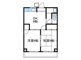 ビクトリーマンション吉山2階Fの間取り画像