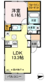 (仮)D-room栗原2階Fの間取り画像