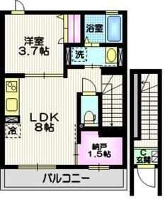 (仮称)西荻窪新築2階Fの間取り画像