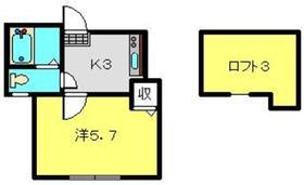 MG上大岡2階Fの間取り画像
