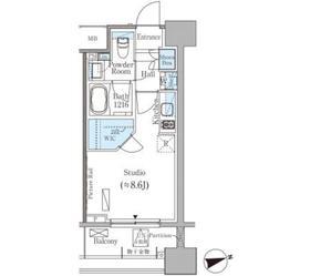 パークアクシス御茶ノ水ヒルトップ3階Fの間取り画像