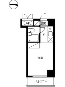 スカイコート新丸子3階Fの間取り画像
