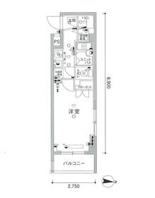スカイコート文京白山第32階Fの間取り画像