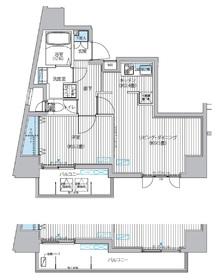 カーサラスク目白台9階Fの間取り画像