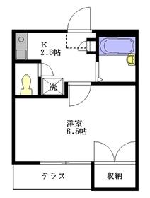 ソレーユ鷺宮1階Fの間取り画像