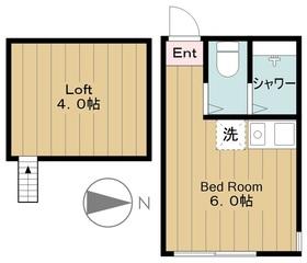 ユナイト菅キャロライン1階Fの間取り画像