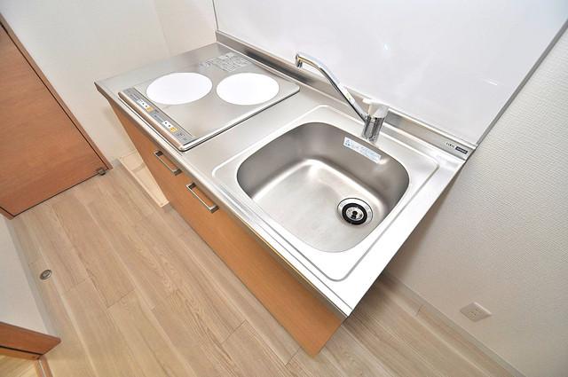 Realize長瀬 システムキッチンは広々と使えて、お料理が楽しくなります。