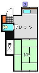 紫陽荘1階Fの間取り画像