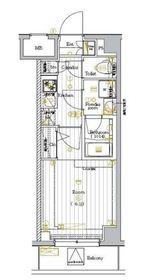 プレミアムキューブ大崎DEUX4階Fの間取り画像