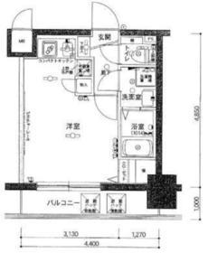 横浜駅 徒歩10分5階Fの間取り画像