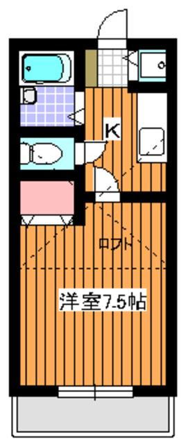 オネスティ赤塚II間取図