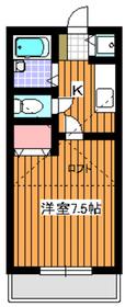 オネスティ赤塚II2階Fの間取り画像