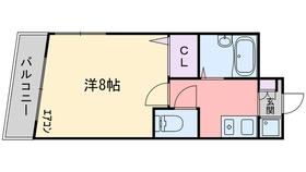 ルピナス西新4階Fの間取り画像