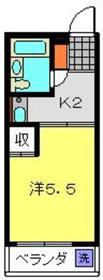 MS野毛ビル4階Fの間取り画像