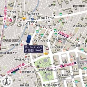 ザ・パークハウス 西新宿タワー60案内図