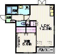 ソレアード柿の木坂2階Fの間取り画像