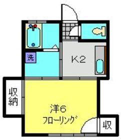 ヨコヤマハイツ3階Fの間取り画像