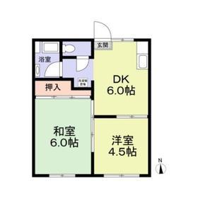 新川崎駅 徒歩18分1階Fの間取り画像