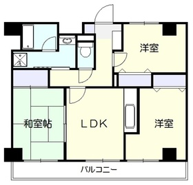 キタ・トマトビル6階Fの間取り画像