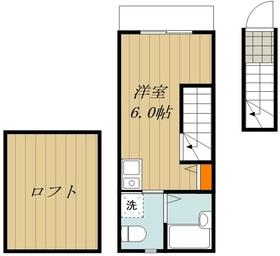 仮称)東浅草2丁目アパート2階Fの間取り画像