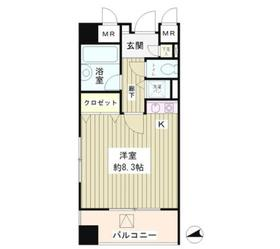 六本木プレイス6階Fの間取り画像